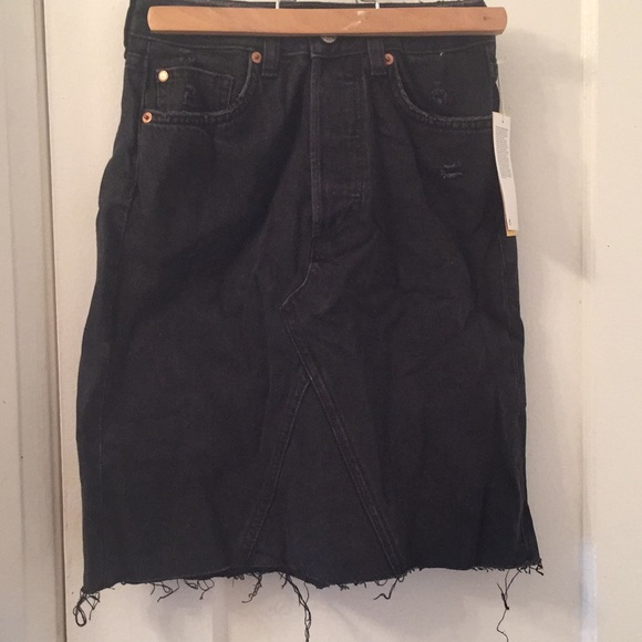 H&M Dresses & Skirts - High waist denim skirt